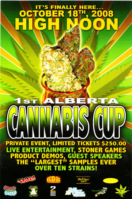 1st Alberta Cannabis Cup Poster
